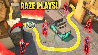 Valorant: What 2000 Hours of Creative RAZE Plays Looks like...