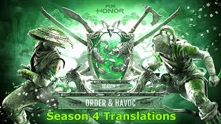 [Season 4] For Honor All Combat Translations