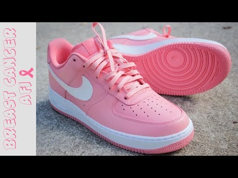 Video Thumbnail of Custom nike Air Force 1 Breast Cancer Awareness Timelapse
