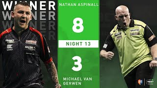 """Nathan Aspinall on thrashing MVG: """"I think Michael felt it tonight with the crowd, I was ready"""""""