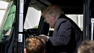 President Trump Gets Mocked After Getting Behind The Wheel of Truck
