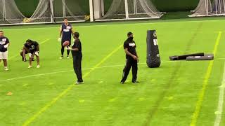 2021 National Scouting Combine - Running Backs Position Drills