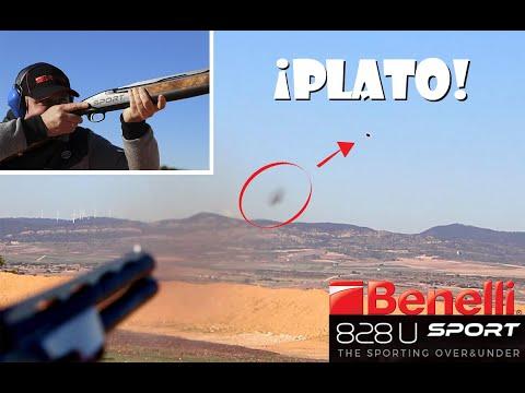 Rompemos platos y más platos con la nueva escopeta superpuesta Benelli 828 U Sport