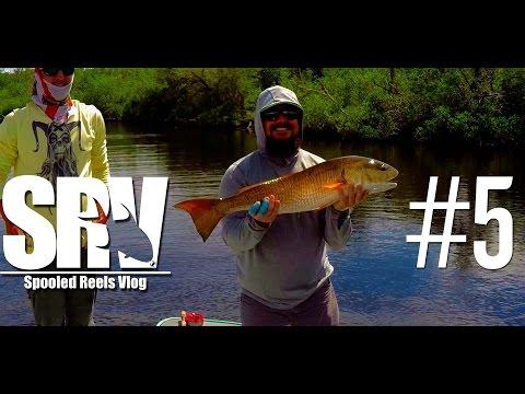 Fly fishing for Giant Redfish - Spooled Reels Vlog - SRV #5