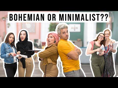 Bohemian or Minimalist?? Interior Design Challenge!