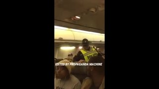 RAW VIDEO: Anti-Trump Liberal get Removed by Police off Alsaka Airlines Flight / Whole Video