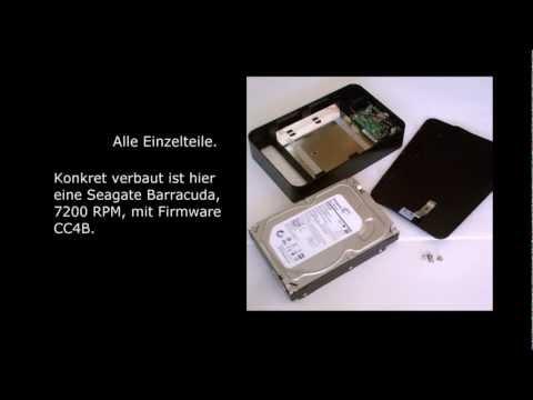 3TB Intenso Platte ausbauen, öffnen, externe Festplatte als interne verwenden, Tutorial