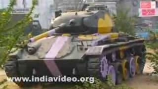 A Patton tank in Tripura city