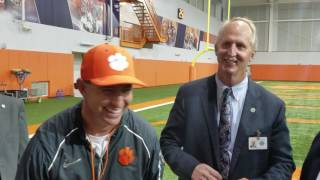 TigerNet.com - Dabo Swinney presented with key to Pickens County - 3.6.2017