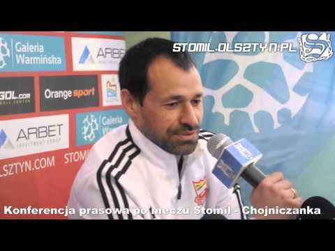 Konferencja prasowa po meczu Stomil Olsztyn - Chojniczanka Chojnice