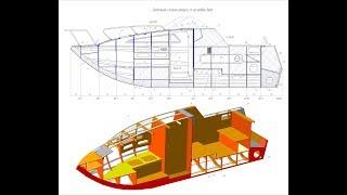 Чертеж лоцманского катера