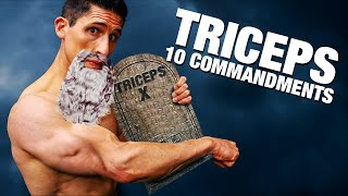 The 10 Commandments of Tricep Training (GET BIG TRICEPS!)