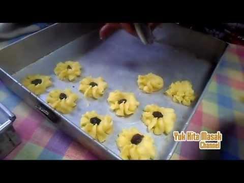 Video Resep dan Cara Membuat Kue Semprit Kismis(Kue Kering Lebaran)