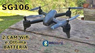 SG106 Drone con Optical flow! Recensione e prova di volo