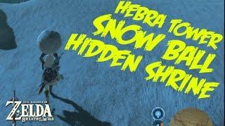 SNOW BALL SHRINE HIDDEN IN HEBRA - Zelda Breath of the Wild