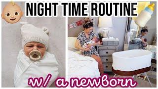 NIGHT TIME ROUTINE WITH A NEWBORN! 2 WEEKS OLD BREASTFEEDING + SLEEP SCHEDULE @Brianna K