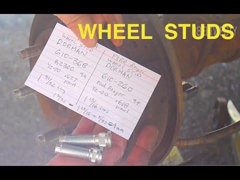 Ford Ranger vs Mazda b2300 wheel studs