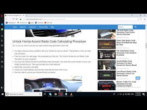How To Enter Honda Radio Code >> Honda Accord Radio Code Generator Solution For Any Accord Model