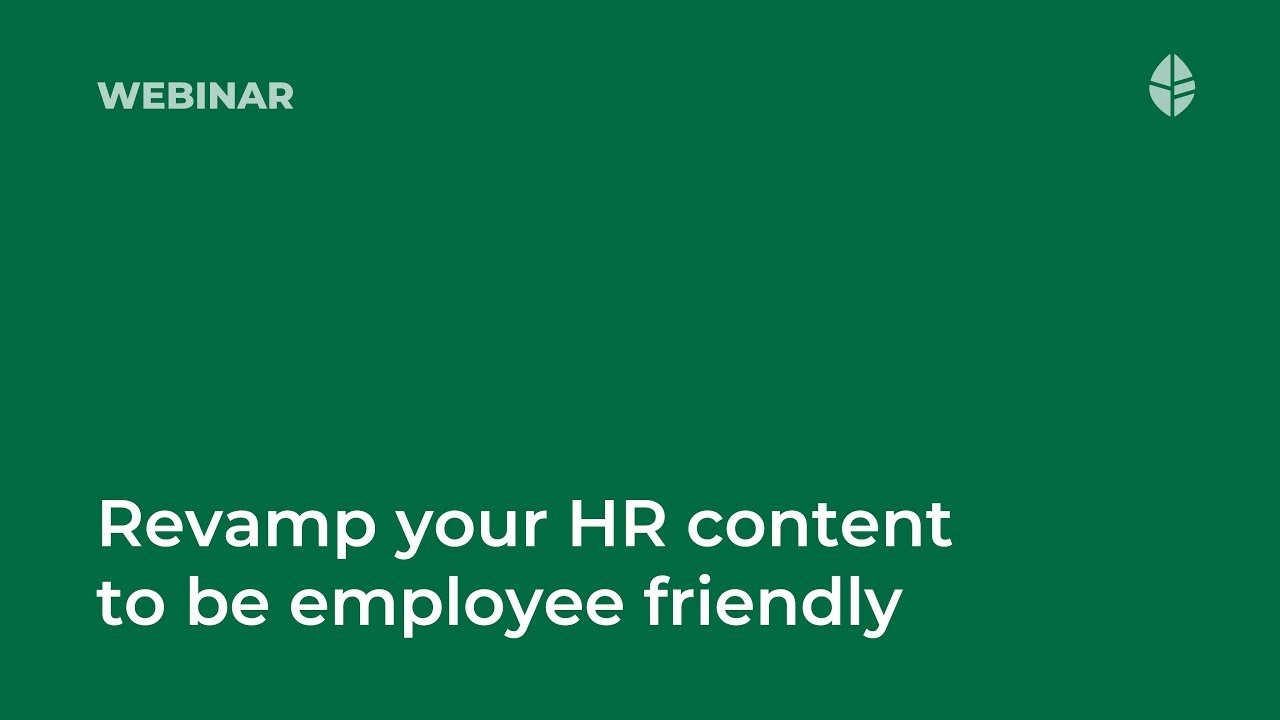 How to revamp your HR content to be employee friendly Video Thumbnail