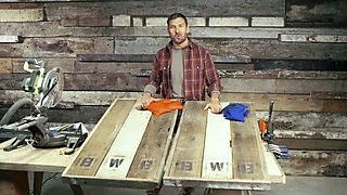 How To Make Barnwood Cornhole Boards - DIY Network