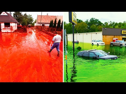 Have You Ever Seen Red and Green Rains ? Strange Rains Happened Once on Earth