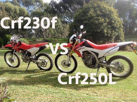 Honda Crf230f vs Crf250L Offroad (Review)