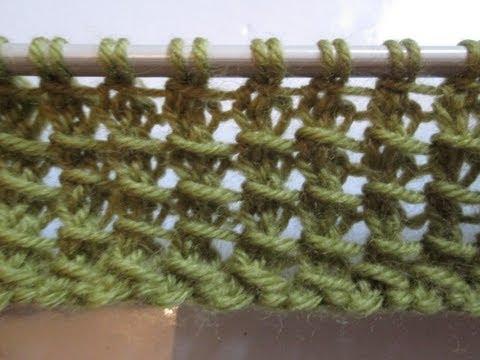 Echarpe au point bambou - Point tricot fantaisie pour echarpe ...