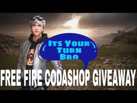 CODASHOP GIVEAWAY !! FREE FIRE LIVESTREAM