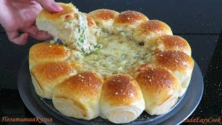 БУЛОЧКИ РОЛЛЫ с СЫРНЫМ ДИП соусом с грибами - Dinner buns with cheese dipping sauce