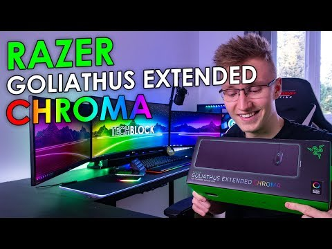 Unboxing Razer's Goliathus Extended Chroma Mouse Mat!