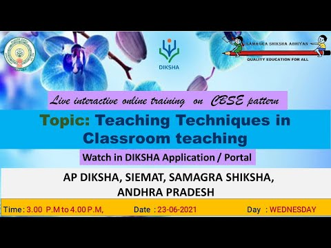 TRAINING ON CBSE PATTERN - DAY 3 - Teaching Techniques in Classroom teaching
