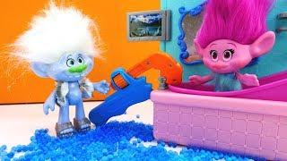 Видео для детей. Веселая школа с Троллями - Профессия сантехник