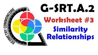 G-SRT.A.2 Worksheet #3 - Similar Triangle Solving