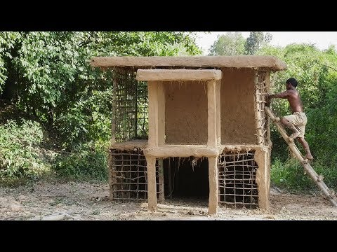 Primitive Technology, Mud Hut two floor