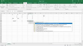 Excel - Unterschied zwischen SUMME, +, TEILERGEBNIS und AGGREGAT