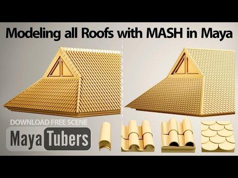 Modelar Tejados con Autodesk Maya y MASH para Tejas Curvas, Mixtas, Pizarra o Blanda - MayaTubers