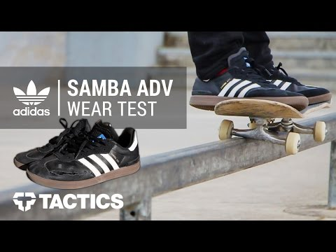 Adidas Samba ADV Skate Shoes Wear Test Review – Tactics.com