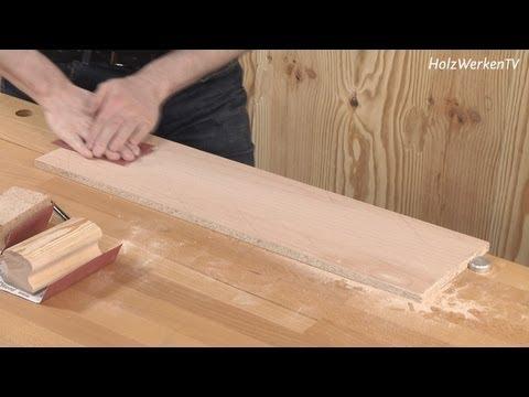 Möbelbau: Furnier schleifen - aber sicher!