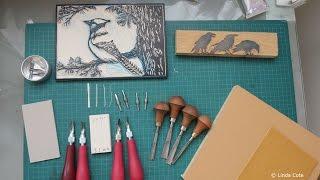 LINDA COTE  Printmaking Supplies Lino Carving Tools