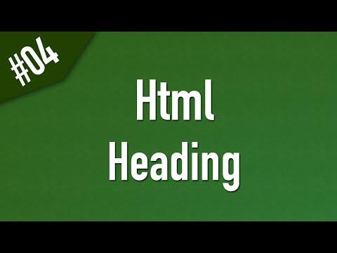 تعلم Html القائمة #1 الفديو #4