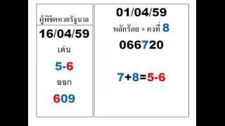 สูตรเด่น บน 16/06/16 Thai Lottery