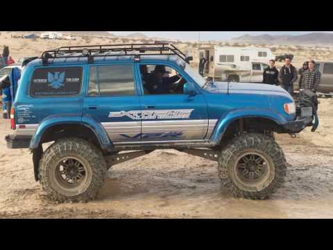 Extreme Landcruiser King Of The Hammers Lexus LX450 Toyota FZJ80 KOH 2017 Mud Bog Water Pit