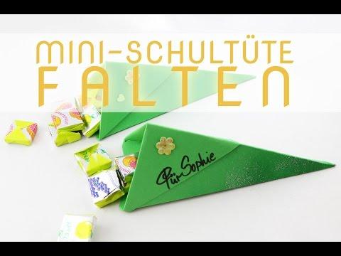 Mini Schultüte falten - Anleitung für eine Zuckertüte - Talu.de