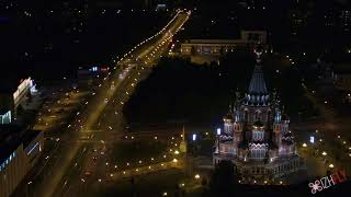 Ижевск, 4k -таймлапс видео. Timelapse in 4k, Izhevsk city, Russia.