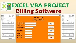 How to create a Billing Software in Excel VBA