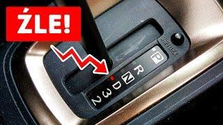 7 rzeczy, których nie powinieneś robić w samochodzie z automatyczną skrzynią biegów