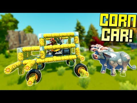 Racing Cars Made of Corn Through Herds of Cows! - Scrap Mechanic Multiplayer Monday