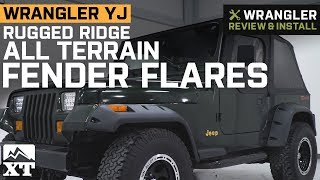 Jeep Wrangler YJ Rugged Ridge All Terrain Fender Flares (1987-1995) Review & Install