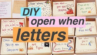 diy open when letters for boy/girlfriend, family and friends