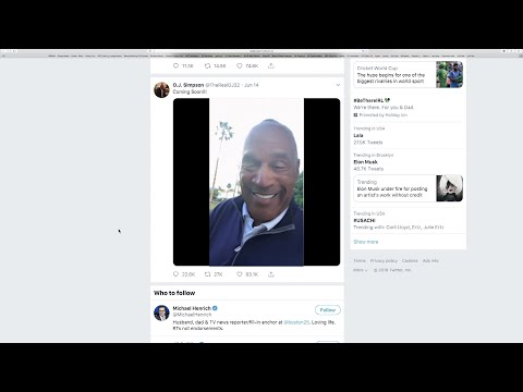 """O.J. Simpson launched a Twitter account with a video post in which the former football star said he's got a """"little gettin' even to do."""" (June 16)"""